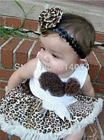 Красивенные леопардовые комплекты с юбочкой Pettiskirt, фото 1