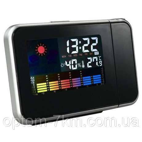 Настольные Цифровые Часы Метеостанция с Проектором Сolor Screen Calendar 8190 S