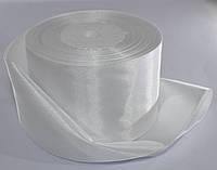 Лента атласная. Цвет - белый. Ширина - 5 см, длина - 23 м, фото 1
