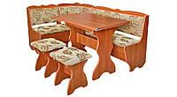 Кухонный уголок с раскладным столом Лорд  (Пехотин) 1500х1100х850мм