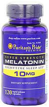 Мелатонін-гормон сну, Puritan's Pride Melatonin 10 mg 120 Capsules