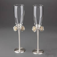 """Свадебные бокалы """"Розы""""  очень эффектные!"""