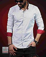 1174ab15b72bbef Белая мужская рубашка с воротником-стойкой, цена 629 грн., купить в ...
