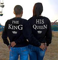 """Парные облегченные свитшоты """"The King - His Queen"""""""
