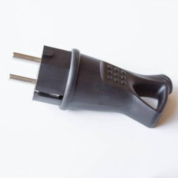 Вилка RIGHT HAUSEN Waterproof пряма з/з з кільцем чорна IP44