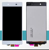 Дисплей (экран) для Sony E6533 Xperia Z3 Plus Dual Sim, E6553 Xperia Z4 Сони с тачскрином в сборе, цвет белый, оригинал