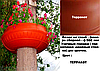 """Вазон на столб, фонарь сборной  Ф900 мм """"Терракот"""" уличные горшки (Термочаша двойные стенки) для цветов."""