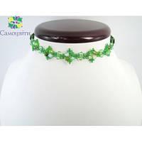 """Эксклюзивное ожерелье из зеленого агата """"Версаль"""""""