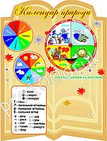 """Стенд """"Календар природи"""" для школи, 60х80см"""
