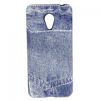 Силиконовый чехол для Meizu M3 mini/3S blue Jeans синий джинс