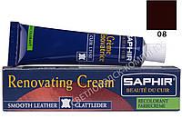 Жидкая кожа Saphir Creme Renovatrice, 25 мл, цв. бордо (08)