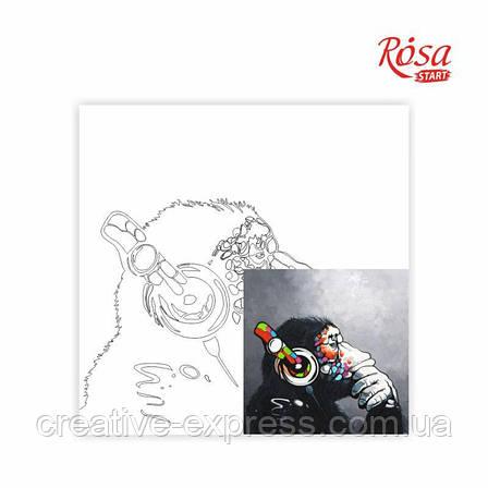 Полотно на картоні з контуром, «Music», 30*30, бавовна, акрил, ROSA START, фото 2