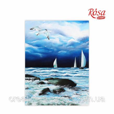 Полотно на картоні з контуром, Морські пейзажі №6, 30*40, бавовна, акрил, ROSA START, фото 2