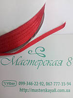 Лента атласная красная 0,3 мм