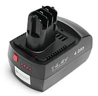 Аккумулятор PowerPlant для шуруповертов и электроинструментов METABO GD-MET-14.4(B) 14.4V 4Ah Li-Ion