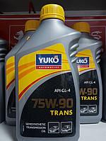 Полусинтетическое трансмиссионное масло YUKO TRANS GL-4 75W-90 1 литр