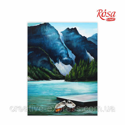 Полотно на картоні з контуром, Пейзаж №29, 30*40, бавовна, акрил, ROSA START, фото 2