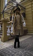 Шуба из меха лисы с воротником Шанель
