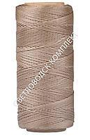 Нитка вощёная, полиэстер, 100 м, Текс №375, цв. капучино, круглая нить