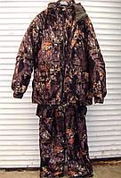 Зимний костюм с внутренней курткой для охоты, рыбалки, активного отдыха ANT Grizzly, размер L, бурый лес