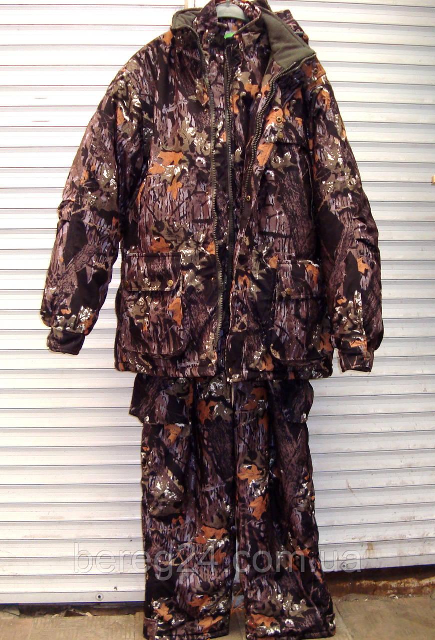 Зимний костюм с внутренней курткой для охоты, рыбалки, активного отдыха ANT Grizzly, размер XXXXL, бурый лес