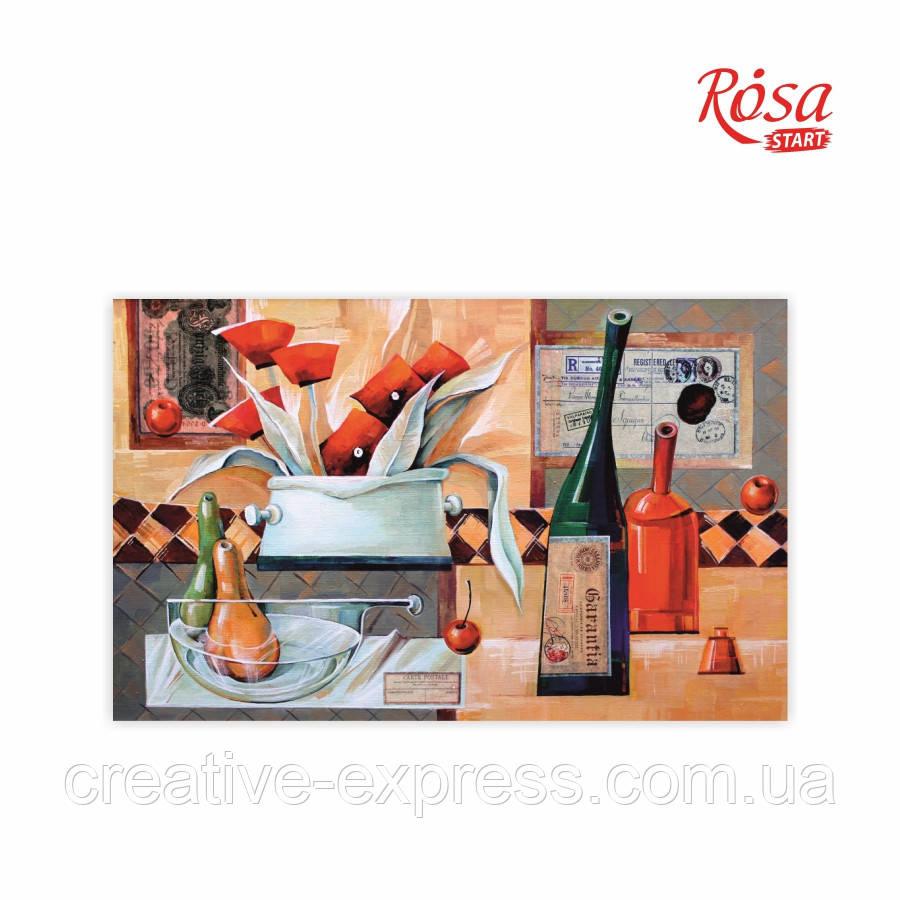 Полотно на картоні з контуром, «Вермут у маковій квітці», А. Навроцька, 25*40, ROSA Talent