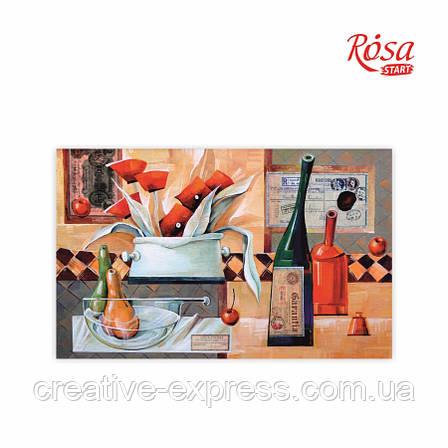 Полотно на картоні з контуром, «Вермут у маковій квітці», А. Навроцька, 25*40, ROSA Talent, фото 2