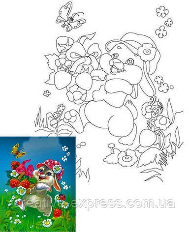 Полотно на картоні з контуром, Мультфільм № 9, 25*35, бавовна, акрил, ROSA Talent, фото 2