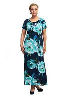 Женское повседневное длинное платье большого размера 1705052/2