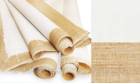"Полотно грунтоване в рулоні, Дрiбне зерно, 1,5*3м, акрил, 270 г/м², льон, ТМ ""Маестро"", фото 2"