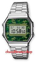 Часы Casio A168WEC-1EF Camo Original 100%