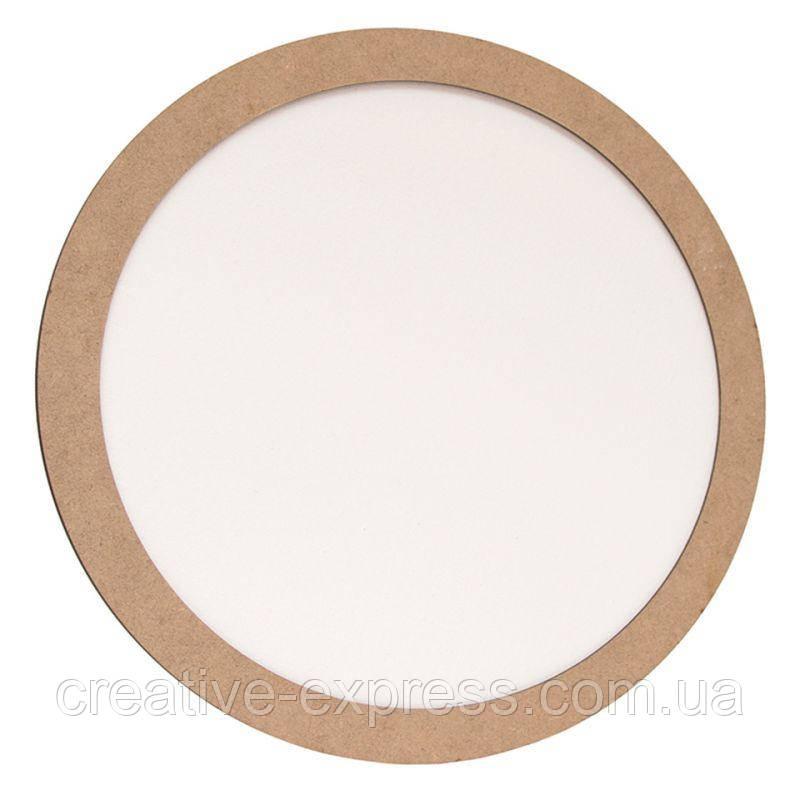 Полотно на картоні кругле в багетній рамі 2,5 см, 35 см, МДФ, ROSA START