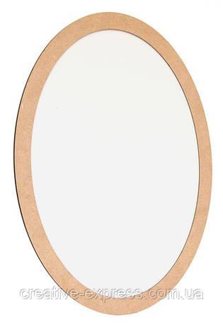 Полотно на картоні кругле в багетній рамі 2,5 см, 35 см, МДФ, ROSA START, фото 2