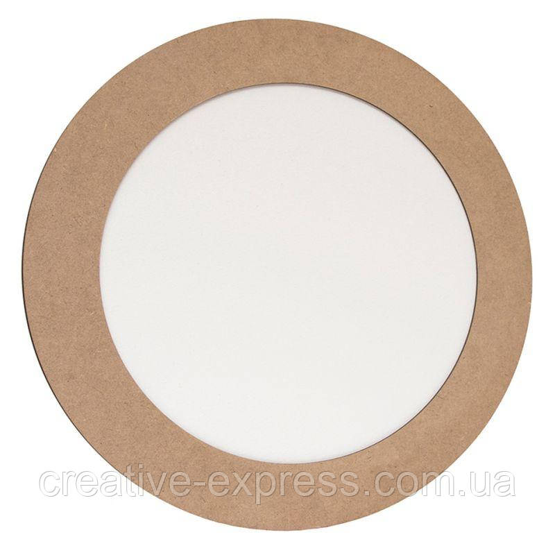 Полотно на картоні, кругле, Ø20 см, в багетній рамі з МДФ 5см, ROSA Talent