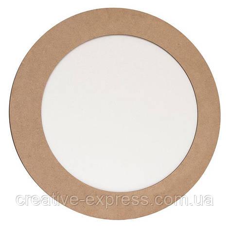 Полотно на картоні, кругле, Ø20 см, в багетній рамі з МДФ 5см, ROSA Talent, фото 2