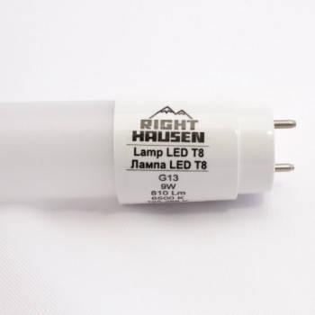 Светодиодная лампа  RIGHT HAUSEN LED T8 NANO PLASTIC  9W 590mm 6500K