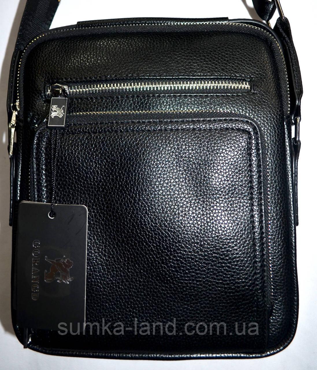 abfc3dc5a4fe Мужская черная кожаная барсетка на плечо 21*25: продажа, цена в ...