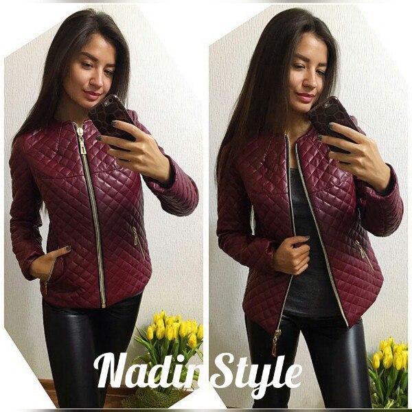 7c1b249cb46 Куртка женская стильная на синтепоне стеганая экокожа 2 цвета Gd139 ...