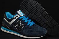 New Balance 574 кожаные подростковые кроссовки