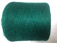 Мохер зеленого цвета, 35% мохер 35% альпака 30% па.