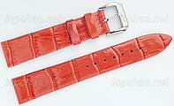 Ремешок Slava (Слава) 10 мм для наручных часов, натуральная кожа, коралловый