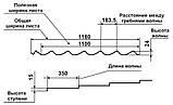 Металлочерепица Rauni RAL 3005 (бордовая) PE 0,45 Standart, фото 4