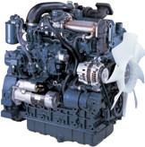 Дизель  V3307-DI-T-E3B  КВт / л.с .: 55,4 / 74,3; об/мин: 2600; Эмиссия: EPA / CARB промежуточный уровень 4 / EU Stage IIIA