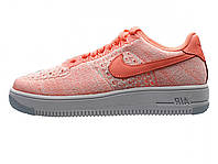 Женские кроссовки Nike Air Force 1 Low Flyknit Pink/White