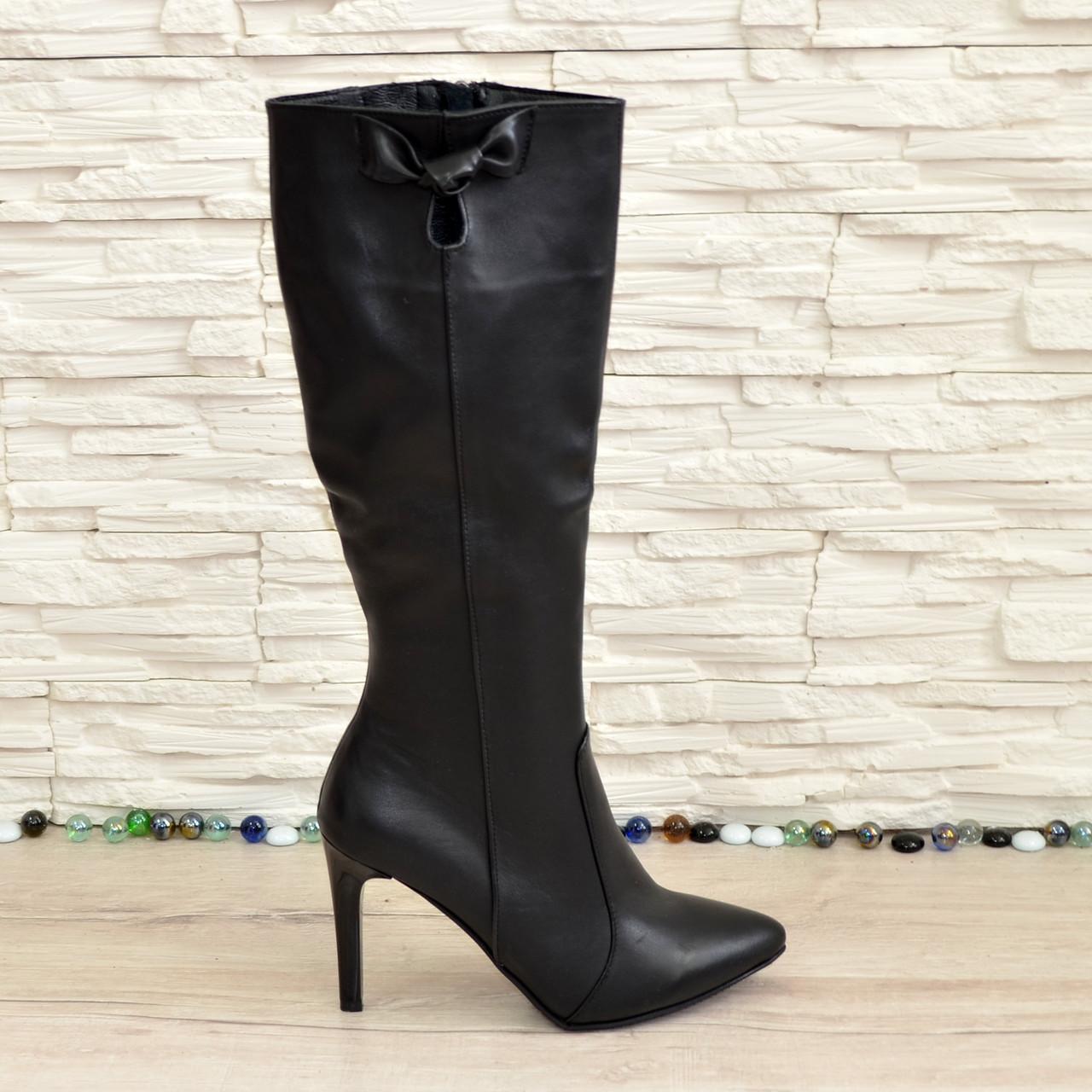 818301e5a Сапоги женские кожаные демисезонные на шпильке. 39 размер: продажа ...