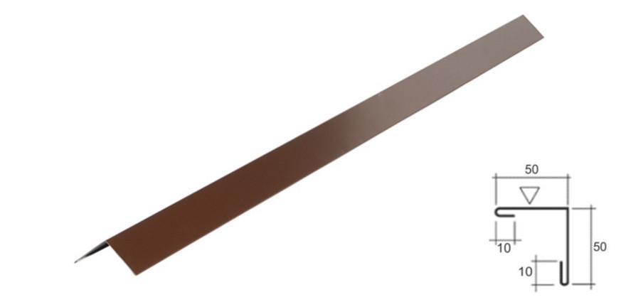 Уголок внешний №2 (50х50) 0.43 мм