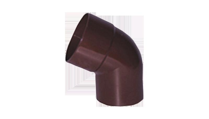 Колено 60° Двухраструбное  для трубы водосточной Profil 75 мм Белый