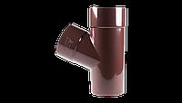 Тройник 67° трубы водосточной Profil 75 мм