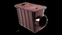 Колодец с боковым сливом водосточной системы Profil 75/100 мм Коричневый