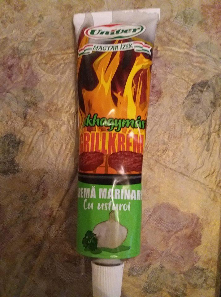 Гриль крем натуральный Grillkrem -жареный лук с чесноком мясо овощи как на гриле! Большой тюбик 160г.!Венгрия
